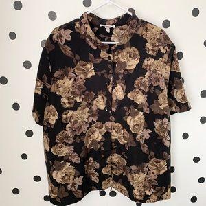 🔥30%OFF🔥EUC ENFOCUS STUDIO BLACK/Brown blouse